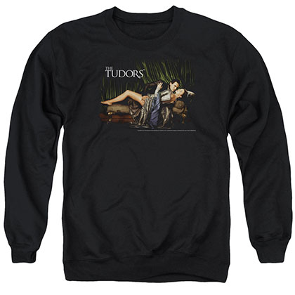 Tudors The King And His Queen Black Crew Neck Sweatshirt