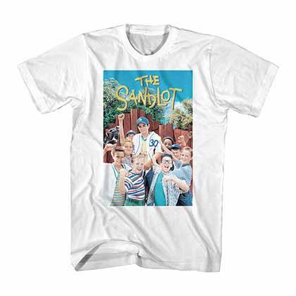 Sandlot Color Poster White T-Shirt
