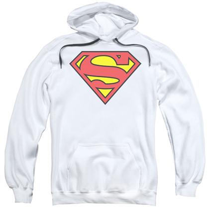 Superman Classic Logo White Hoodie