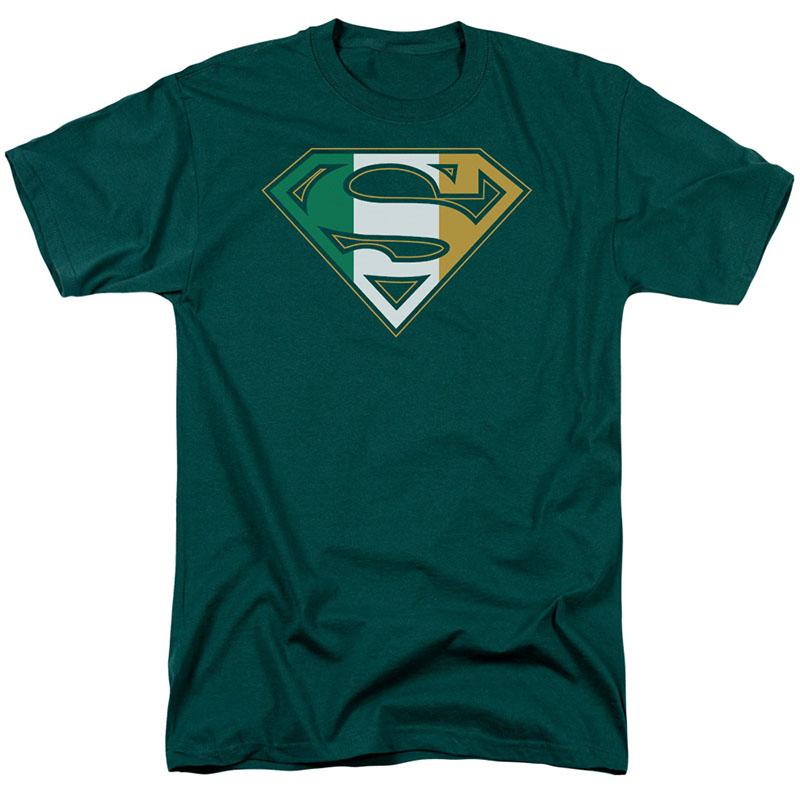 St. Patrick's Day Superman Irish Shield Green T-Shirt