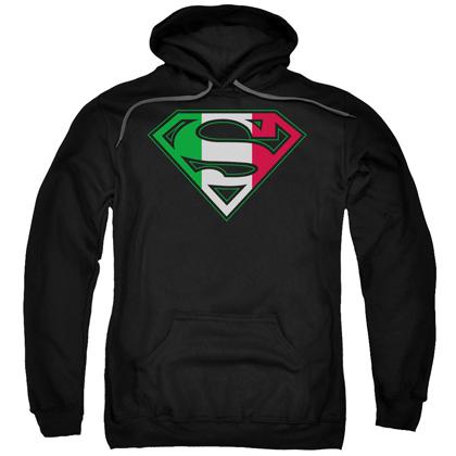 Superman Italian Flag Logo Hoodie