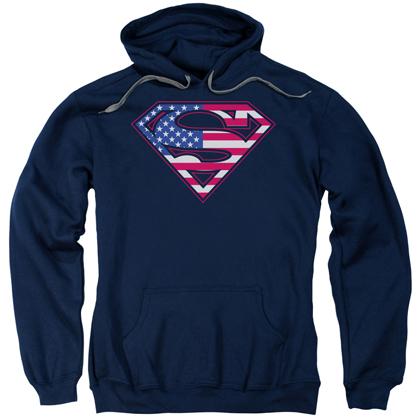 Superman American Flag Logo Hoodie