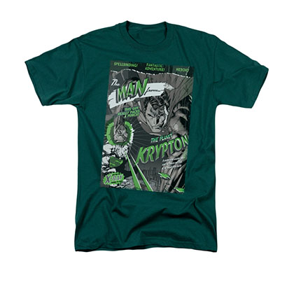 Superman Man From Krypton Green T-Shirt