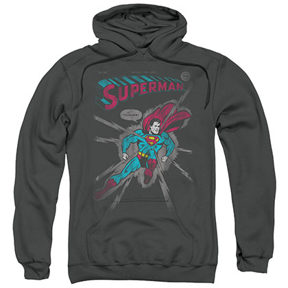 Superman It Tickles Gray Pullover Hoodie