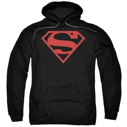 Superman Black and Red Logo Hoodie