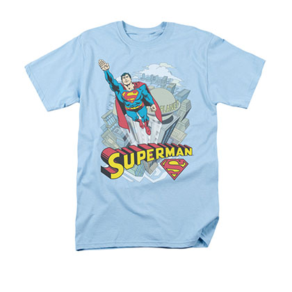 Superman Skyward Light Blue T-Shirt