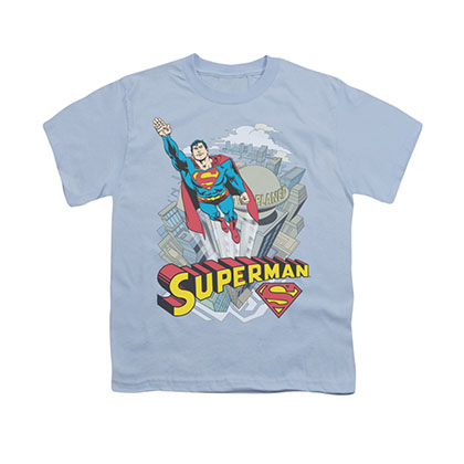 Superman Skyward Blue Youth Unisex T-Shirt