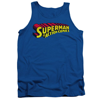 Superman Action Comics Blue Tank Top
