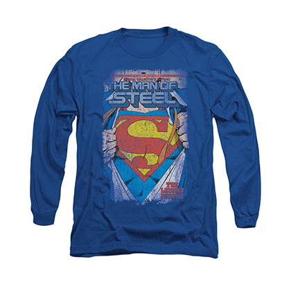 Superman Legendary Blue Long Sleeve T-Shirt