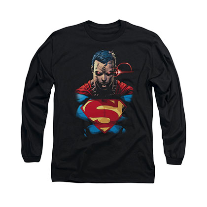 Superman Displeased Black Long Sleeve T-Shirt