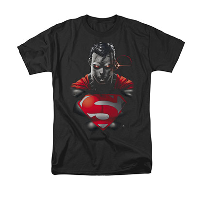 Superman Heat Vision Black T-Shirt
