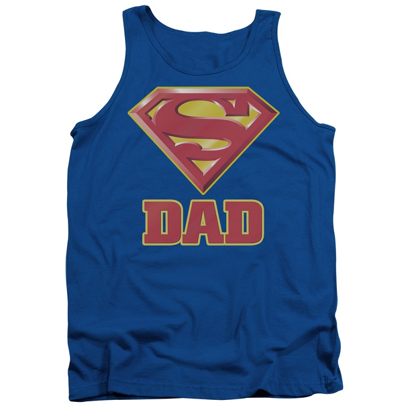 Superman Super Dad Logo Tank Top
