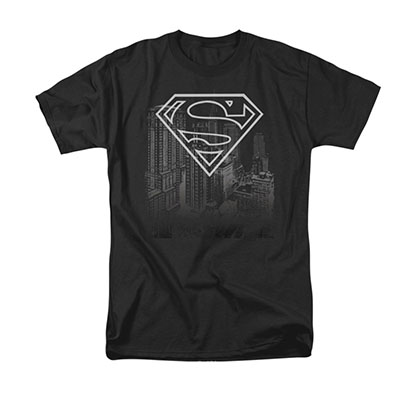 Superman Skyline Black T-Shirt