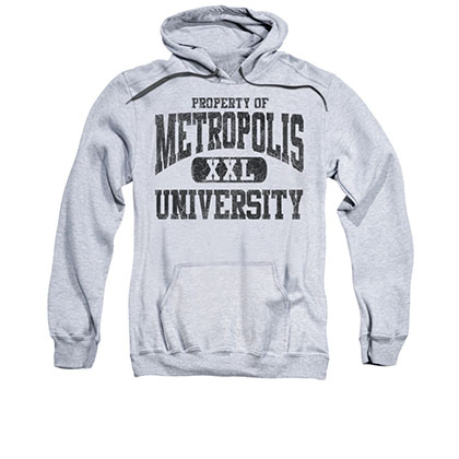 Superman Property Of Metropolis University Gray Pullover Hoodie