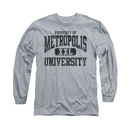 Superman Metropolis Property Gray Long Sleeve T-Shirt