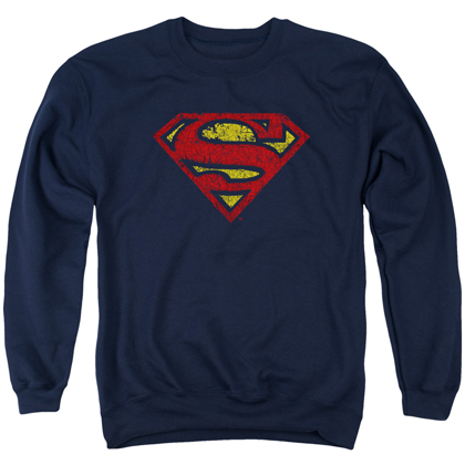 Superman Crackle Logo Crewneck Sweatshirt