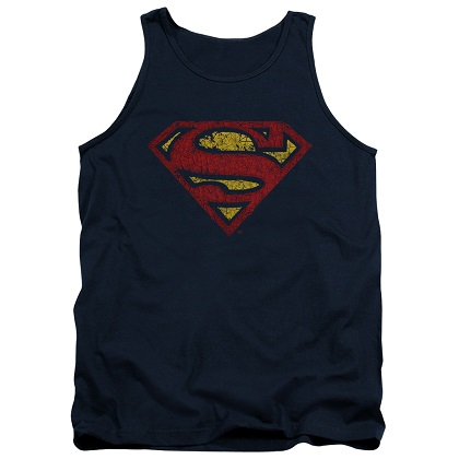 Superman Cracked Logo Tank Top