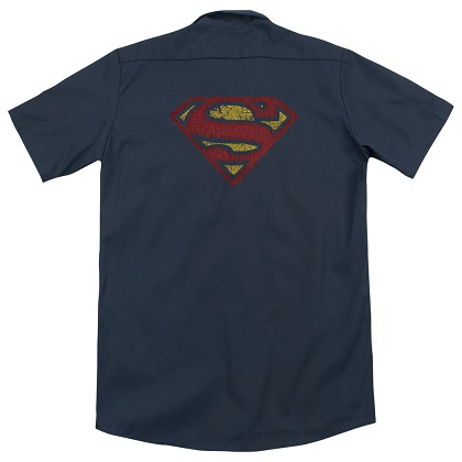 Superman Cracked Logo Work Shirt