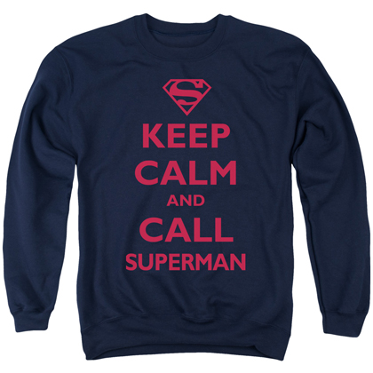 Superman Keep Calm Crewneck Sweatshirt
