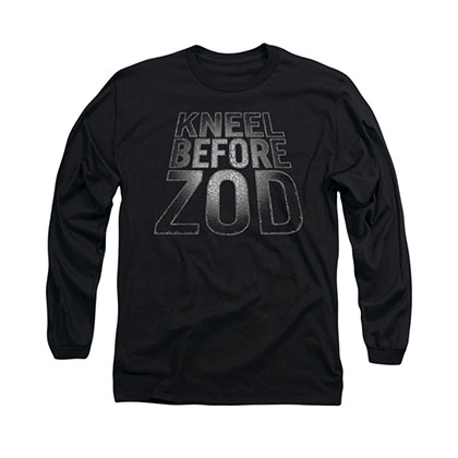Superman Kneel Before Zod Black Long Sleeve T-Shirt