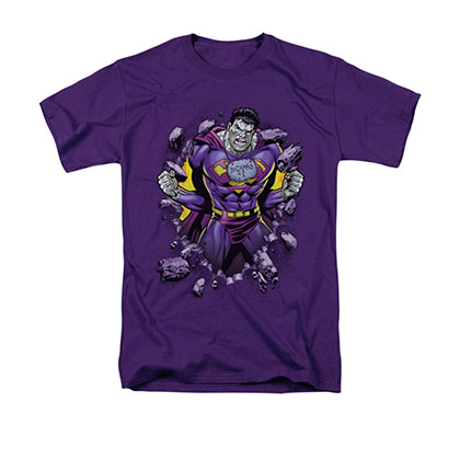 Superman Bizarro Breakthrough Purple T-Shirt