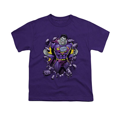 Superman Bizarro Breakthrough Purple Youth Unisex T-Shirt