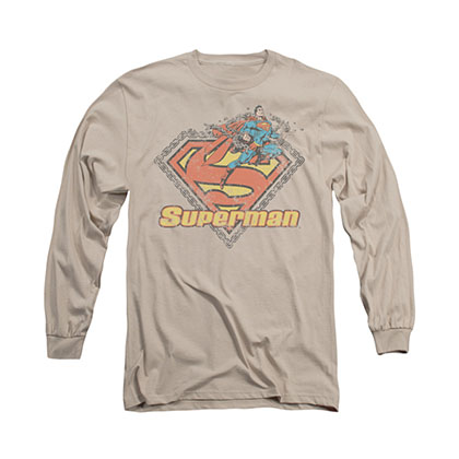 Superman Est. 1939 Beige Long Sleeve T-Shirt
