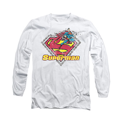 Superman Est. 1939 White Long Sleeve T-Shirt