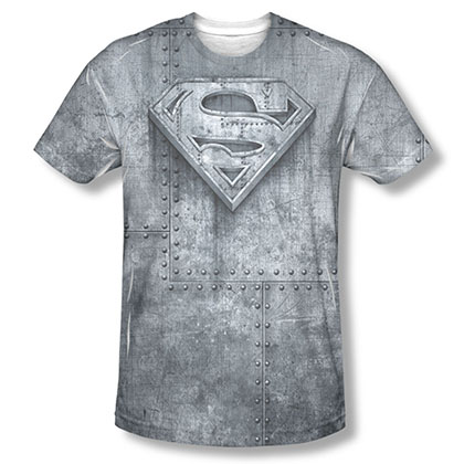 Superman Made Of Steel Sublimation Gray T-Shirt
