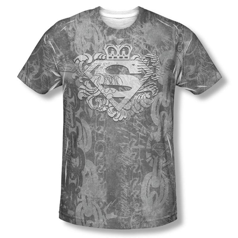 Superman Unchain The King Sublimation Black T-Shirt