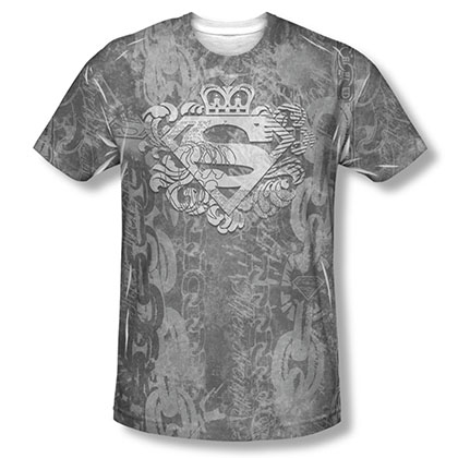 Superman Unchain The King Sublimation Black T-Shirt