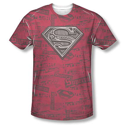 Superman Super Powers Sublimation Red T-Shirt