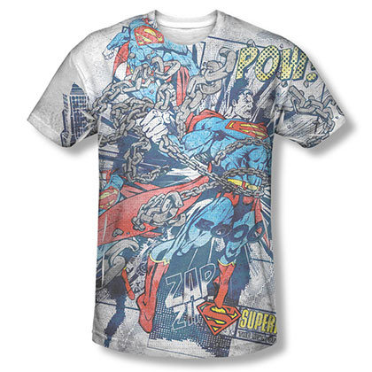 Superman Break Free Sublimation White T-Shirt