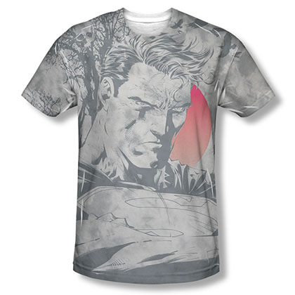 Superman New Day Dawning Sublimation Gray T-Shirt