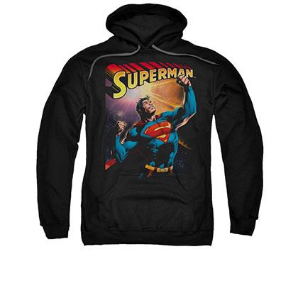 Superman Victory Black Pullover Hoodie