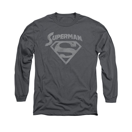 Superman Arch Gray Long Sleeve T-Shirt