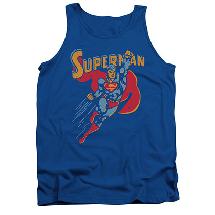 Superman Life Like Action Blue Tank Top