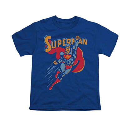 Superman Super Knockout Blue Youth Unisex T-Shirt