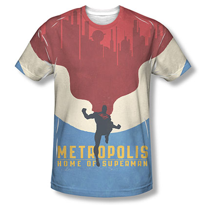Superman Metropolis Sublimation T-Shirt
