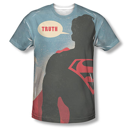 Superman Truth Sublimation Blue T-Shirt