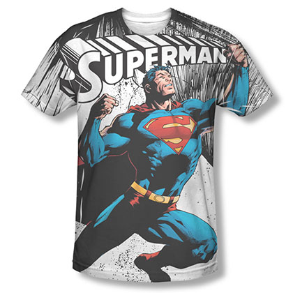 Superman To Infinity Sublimation White T-Shirt