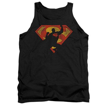Superman Knockout Black Tank Top