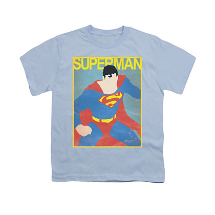 Superman Simple Poster Blue Youth Unisex T-Shirt