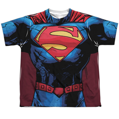 Superman New 52 Youth Costume Tee