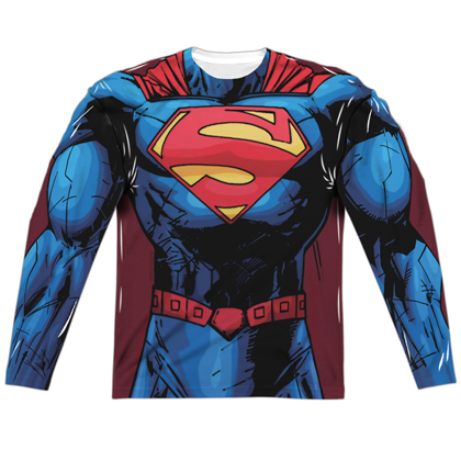 Superman New 52 Long Sleeve Costume Tee
