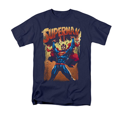 Superman Lift Up Blue T-Shirt