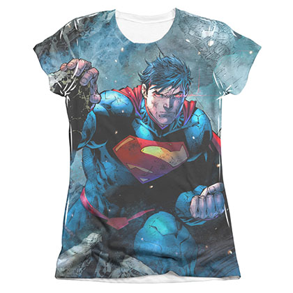 Superman Rumble Sublimation Juniors T-Shirt
