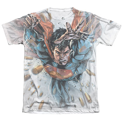 Superman Bullets In The Sky Sublimation T-Shirt