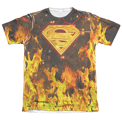 Superman Fire Logo Sublimation T-Shirt
