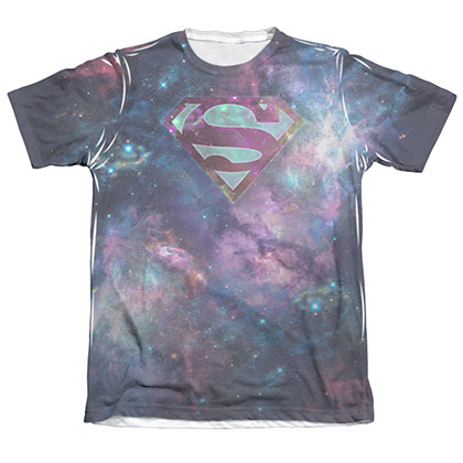 Superman Spaced Out Logo Sublimation T-Shirt
